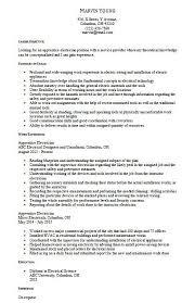 Electrical Apprentice Resume Samples Electrician Apprentice Resume Samples Resume Examples