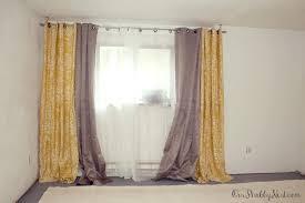 extra wide sheer curtains rod pocket linen semi