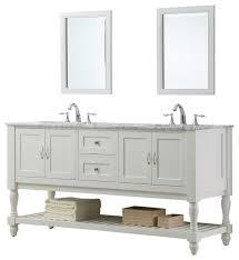 belinda double vanity white carrara marble top with mirrors 70