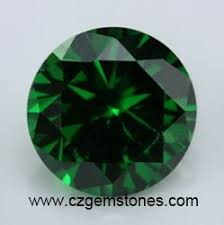 Cubic Zirconia Green Emerald Color Stones And Synthetic