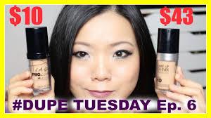 makeup dupe la vs make up forever hd foundation dupetuesday ep 6