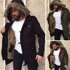 lined lined lined warm fur men fashion coats hooded hooded hooded parka winter jackets 2018 sqw1rxy
