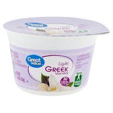 Great Value Light Vanilla Greek Yogurt Nutrition Facts Great Value Light Greek Vanilla Nonfat Yogurt 5 3 Oz