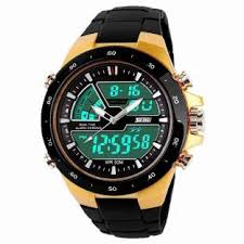 watches for men women online at best prices in flipkart com skmei 1016 gold chronograph analog digital watch for men