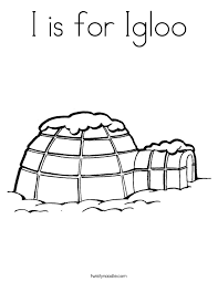 Small Picture I is for Igloo Coloring Page Twisty Noodle