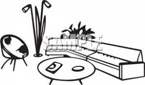 living room clipart black and white. black and white living room clipart