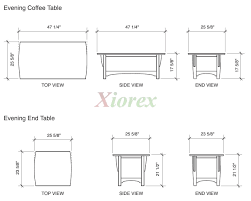 Typical Coffee Table Size Average Height Of Coffee Table Coffetable