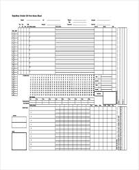 Cricket Score Card Format 14 Score Sheet Templates Free Samples Examples Format