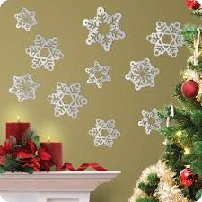 snowflake wall decals good in small home decor inspiration with snowflake wall decals