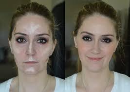 contouring makeup nose p