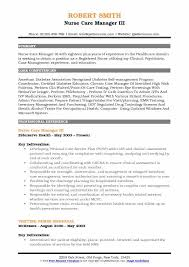 Certified Case Manager Resume Nurse Care Manager Resume Samples Qwikresume