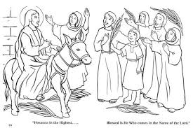 Small Picture The Coming of Zions King in Palm Sunday Coloring Page Color Luna