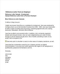 Personal References Letter Examples Career Education