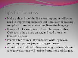 the ap english literature and composition exam ppt video online 4 tips