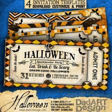 Vintage Invitation Template Simple Halloween 488 Vintage Invitation Cards 48 Templates Ready To Etsy