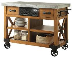 kitchen island cart industrial. Industrial Kitchen Island Cart Antique Oak Finish Islands And Style .