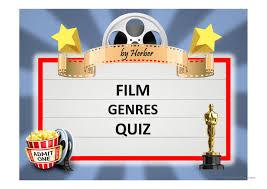 Film Genres Film Genres Quiz English Esl Powerpoints