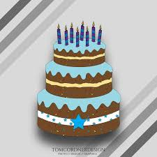 Birthday Cake Svg Birthday Cake Clipart Birthday Cake Etsy