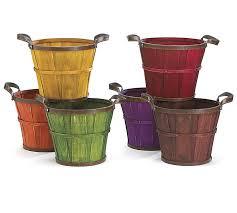 details 6 fall wood basket pot cover set