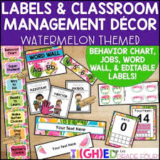 Classroom Management Chart Classroom Management Mini Watermelon Decor Pack Jobs Behavior Chart Labels