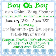 Boy Oh Boy - Giveaway and Surprise Shower! | Cooking on the Front Burner