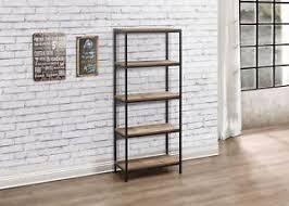 metal industrial furniture. Birlea Urban Industrial Chic 5 Tier Shelving Unit Bookcase Shelves Wood Metal Furniture
