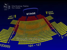 Seating Chart For Neil Simon Theater In Nyc Broadway Seating Charts Neil Simon Theatre Seating Chart