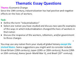 global history thematic essay what are some global history regents thematic essay edu essay