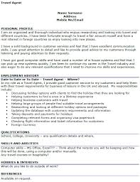 travel profile travel agent cv example icover org uk