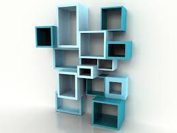 Wall Units, Blue Cube Shelving Unit Design: glamorous unique wall units