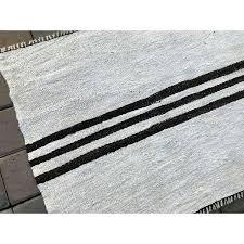 black and white striped kilim rug white hemp rug black striped handmade vintage black white striped black and white striped kilim rug