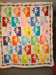 shadow daisy quilt pattern | found on quiltingboard com | quilt ... & Spring Daisy Quilt Adamdwight.com
