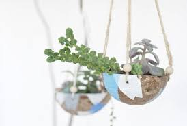 indoor gardening ideas. 1. Coconut Hanging Planter: Who Needs A Spring Getaway? Little Planting, Painting, Snacking \u2014 These DIY Planters Are Mini Indoor Gardening Ideas