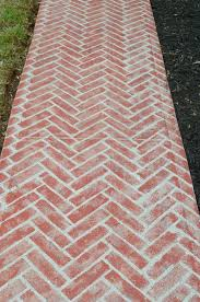 Herringbone Brick Pattern Magnificent Stencil A Faux Brick Paver Walkway