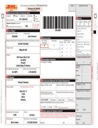 Dhl International Waybill Online Fill Online Printable Fillable