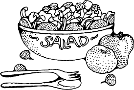 fruit salad clipart black and white.  And Image Freeuse Wonderful Of Letters Format Salad Clipart Black And White In Fruit Clipart Black And White S