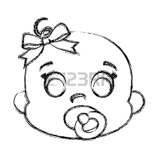 Cute Baby Girl Drawing At Getdrawingscom Free For Personal Use