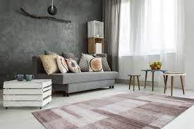 Wohnzimmer Teppich Modern Kasten Muster Teppiche Streifen Beige Braun
