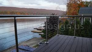 steel cable railing. Michelle - NJ Modern Stainless Steel Cable And Glass Railing Inline Design I