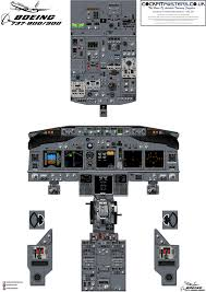 Boeing 737ng 800 900 Cockpit Training Posters 100 Accurate 3d Artwork Free Shipping