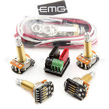 emg erless guitar parts new emg erless wiring conversion kit for 1 2 pickups active long shaft split