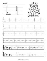 tracing letter l worksheet