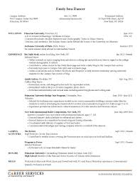 Sample Resume For University Teaching Positions Custom Writing