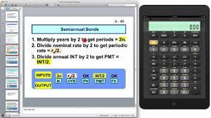 Semi Annual Bond Pricing Calculation Youtube