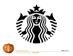 Starbucks Logo Pumpkin Carving Template Free Printable Coloring