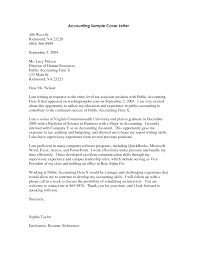 Accounting Cover Letter Gplusnick
