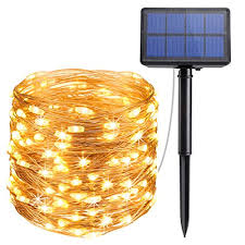 amir solar powered string lights 33ft copper wire lights 100 led starry lights indoor outdoor waterproof solar decoration lights for gardens home