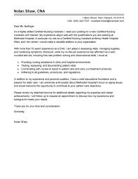 Cna Job Duties Resume Certified Nursing Assistant Cover Letter Examples Tolg 30