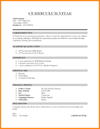 Resume Declaration Format Sample Sidemcicek Com
