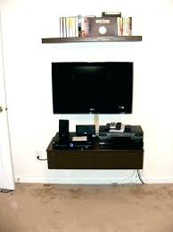 Floating console shelf Headboard Floating Console Shelf Media Cabinet And Shelves Game Modern Floating Media Console Geekti